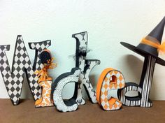 Halloween Wicked Letter Set by definebliss on Etsy