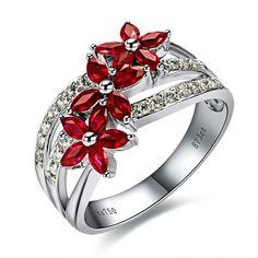 Purely Elegant... Ruby Engagement Ring
