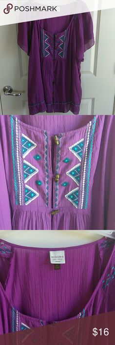 Light Purple Embellished  Front Top Light Purple Embellished  Front Top. With Wooden Buttons. Length 28 Chest 29 Sonoma Tops