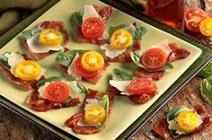 "Balsamic-Laced Bacon ""Bruschetta"" recipe #appetizer"