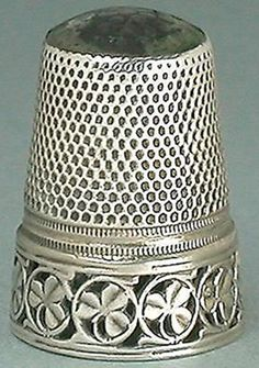 RP: Antique Amethyst Stone Top Shamrocks Silver Thimble * Early 20th Century - eBay.com