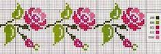Risultati immagini per pinterest fiori punto croce