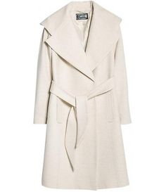 Mango Wide lapel Wool-blend Coat//