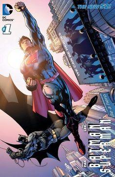 The Worlds Finest Batman (Bruce Wayne) and Superman (Clark Kent)