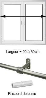 tringle rideau de porte ib pour rideaux illets d 20 mm l 100 cm chrom id es maison. Black Bedroom Furniture Sets. Home Design Ideas