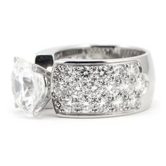 Pave Diamond Engagement Ring - Wide Band | Wixon Jewelers