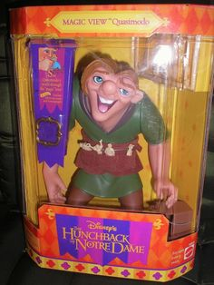 Disney's The Hunchback Of Notre Dame Magic View Quasimodo Action Figure Doll NIB Disney Cartoons, Disney Movies, Disney Dolls, Disney Princesses, Disney Figurines, Child Doll, Doll Crafts, Vintage Toys, Childhood Memories