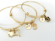 Personalised Gold Plated Adjustable bangle bracelets with Custom Text of your choice. Free US Shipping - Karwachauth Bangles. Personalised Gold Plated Adjustable bangle bracelets with Custom Text of your - The Bangles, Gold Plated Bracelets, Gold Bangle Bracelet, Diamond Bracelets, Cuff Bracelets, Girl Gifts, Gifts For Mom, Graduation Jewelry, Phd Graduation