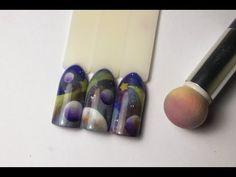 Космос на ногтях -это просто! АЭРОПУФФИНГ. Дизайн ногтей гель-пастой. - YouTube