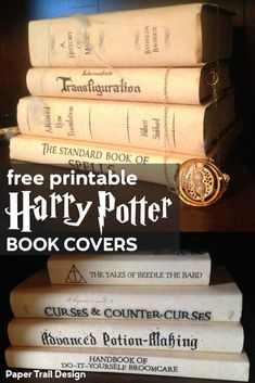 Hogwarts spellbooks and textbooks party decor. Hogwarts spellbooks and textbooks party decor. Harry Potter Spell Book, Harry Potter Library, Harry Potter Book Covers, Cumpleaños Harry Potter, Harry Potter School, Harry Potter Classroom, Harry Potter Bedroom, Harry Potter Birthday, Slytherin