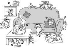 Mit Katzen lerne ich meine Präpositionen am Liebsten!