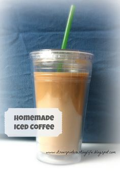 homemade iced coffee from its our pinteresting life!