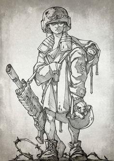 children imperial_guard imperium lasgun monochrome savier unstandard
