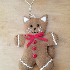 Felt christmas ornaments - Felt cat ornament with red star, hanging cat decoration, ready to ship – Felt christmas ornaments Felt Christmas Decorations, Christmas Ornaments To Make, Christmas Sewing, Christmas Cats, Handmade Christmas, Holiday Crafts, Etsy Christmas, Christmas Felt Crafts, Pallet Christmas