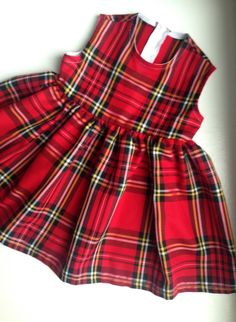 A personal favourite from my Etsy shop https://www.etsy.com/uk/listing/258449864/red-tartan-dress-little-girls-baby-girl