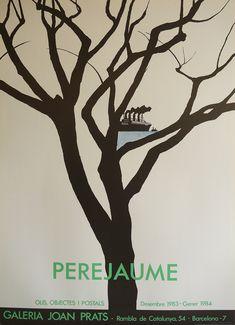 Perjaume - Original Artist Poster 1980 – Art Vintage Store Ltd Museum Poster, Creative Poster Design, Graphic Artwork, Poster Design Inspiration, Exhibition Poster, International Artist, Vintage Posters, Fine Art Prints, Poster Prints