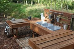 Introducing our new mud kitchen!   We have wanted a mud kitchen since we started creating our outdoor area, so this weekend, after A LOT of ...