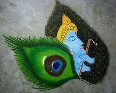 Rangoli Ideas, Beautiful Rangoli Designs, Radhe Krishna, Fish, Dress Designs, Crafts, Sketch, Pencil, Photos