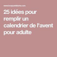 25 idées pour remplir un calendrier de l'avent pour adulte