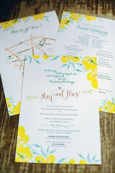 Ian-Kres Wedding Invites via Happy Hands Project