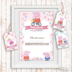 Cumple Peppa Pig, Pig Party, Kit, Frame, Party Ideas, Party, Peppa Pig Drawing, Masha And The Bear, Wrapping