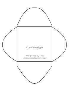 4x4 envelope template