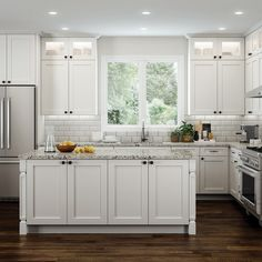 White shaker cabinetry is perfect for both those who prefer contemporary and traditional kitchen décor. Their full overlay and wide shaker style creates subtle, refined, and timeless beauty, perfect as a backdrop for any kitchen setting. #whiteshakercabinets #whiteshaker #whiteshakerkitchen #whiteshakercabinetry #kitchenrenovations #kitchenrenos #homerenos #homerenovationideas #housereno #houserenovations #shakerkitchen #luxurykitchens #whitekitchens #luxurykitchendesign #whiteshaker
