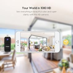 FREDI hidden camera HD mini wifi camera spy camera for iPhone/Android Phone/ iPad Remote View with Motion Detection(support SD card) Pen Camera, Mini Spy Camera, Hidden Spy Camera, Home Monitoring System, Button Camera, Wireless Home Security Systems, Security Camera, Hd 1080p, Night Vision