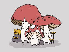 Cute Drawings, Drawing Sketches, Character Art, Character Design, Mushroom Art, Cute Illustration, Aesthetic Art, Artist Art, Cute Wallpapers