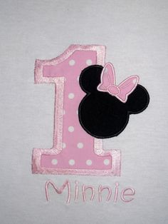 1st Birthday Minnie Mouse Number Shirt or Onesie