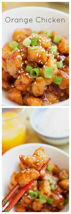 Orange Chicken - BEST & EASIEST Orange Chicken recipe that tastes like it's straight from your favorite takeout | rasamalaysia.com