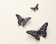 3D wall butterflies: Butterfly wall art by hipandclavicle on Etsy
