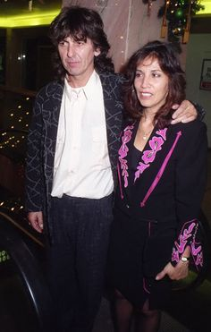 George Harrison and Olivia Arias-Harrison (at a function)
