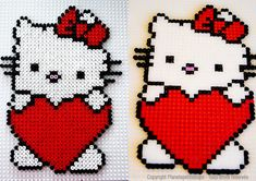 Hello Kitty hama perler beads