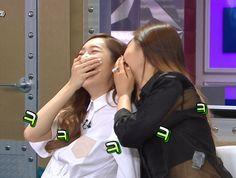 Radio Star. Yuri, are you laughing into Jessi's ear? #Yulsic