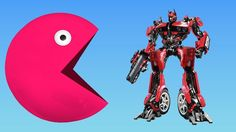 Learning Colors with Pacman Transformers For Kids - Learn Colors For Kids Toddlers Children Babies