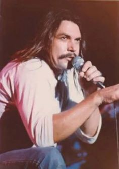 """SOUTHERN ROCK LEGENDARY Lead Vocalist """"ORIGINAL"""" MOLLY HATCHET's ... Danny Joe Brown ... During An Intimate Moment On The Microphone During The NO GUTS ... NO GLORY Tour 1983 - 1984. ** THE CROWD LOVED DANNY!! HE WOULD TALK & THEY WOULD RESPOND!! **"""