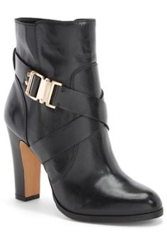 belted black leather boots
