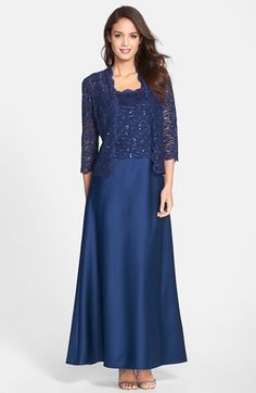 Alex Evenings Embellished Lace Gown & Bolero available at #Nordstrom
