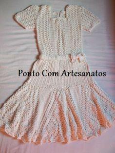 Vestido de Crochê por Ponto Com Artesanatos