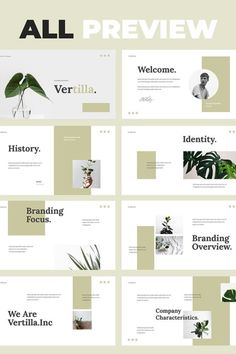 Vertilla - Brand Guideline Powerpoint Template for those who need a branding guide for a new company or if you try to rebranding, this presentation template Company Presentation, Business Presentation Templates, Project Presentation, Presentation Design Template, Presentation Layout, Professional Presentation, Ppt Design, Slide Design, Booklet Design