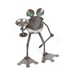 Follow us to http://freecycleusa.com Small Toasting Toad Sculpture Yardbirds by Richard Kolb