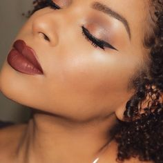 Anastasia Beverly Hills liquid lipstick in Vamp as modeled on Beauty By Lee's Sultry Valentines Day Makeup Tutorial