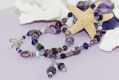 Purple Amethyst Necklace & Earrings Set by ornatetreasures on Etsy, $139.00