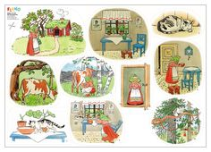 The Tale of the Little, Little Old Woman - Flanodesign Sequencing Cards, Story Sequencing, About Me Activities, Educational Activities For Kids, Daffodil Color, Preschool Library, Elsa Beskow, Apple Roses, English Writing