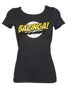 Ladies Charcoal #Bazinga Logo Big Bang Theory Scoop Neck T-Shirt #BBT #TBBT xoxo