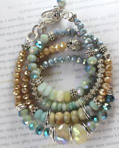 ON SALE bracelet aquamarine bracelet citrine by soulfuledges