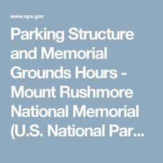 Parking Structure and Memorial Grounds Hours - Mount Rushmore National Memorial (U.S. National Park Service  sc 1 st  Pinterest & Evening Lighting Ceremony - Mount Rushmore National Memorial (U.S. ... azcodes.com