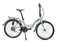 Briza Folding Bicycle- Frost White >>> You can find more details by visiting the image link. Folding Bicycle, Cool Bikes, Outdoor Recreation, Frost, Image Link, Outdoors, Technology, Eye, Website