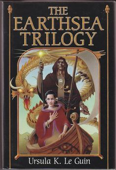 A Wizard of Earthsea; The Tombs of Atuan; The Farthest Sea.  Trilogy is written by Ursula K Le Guin, an insightful science fiction and fantasy author.